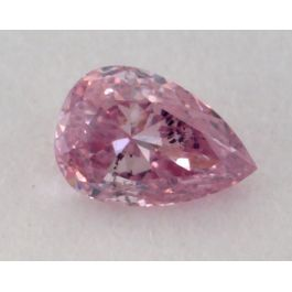 0.09 Carat, Natural Fancy Intense Purplish Pink, Pear Shape, I1 Clarity, GIA