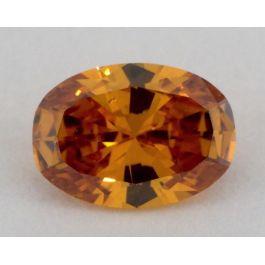0.46 Carat, Natural Fancy Deep Brownish Yellowish Orange. Oval Shape, SI1 Clarity, GIA