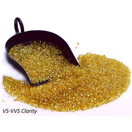 Canary Yellow Melee Diamonds, VS-VVS Clarity,