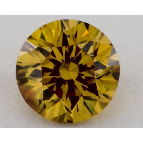 0.51 Carat, Natural Fancy Deep Brownish Orangy, Round Shape, SI1 Clarity, GIA